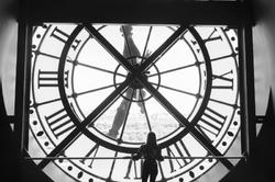 clock Paris France B&W Black&White silhouette