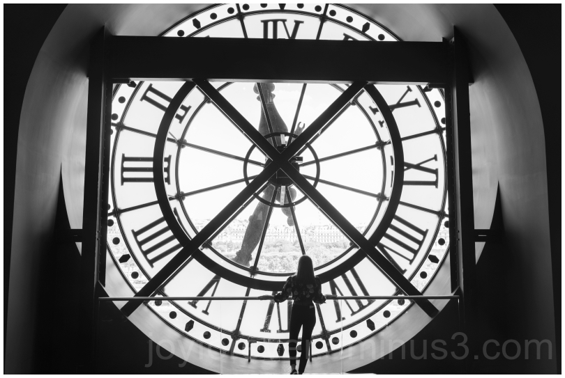 clock Paris France B&W Black&White silhouette