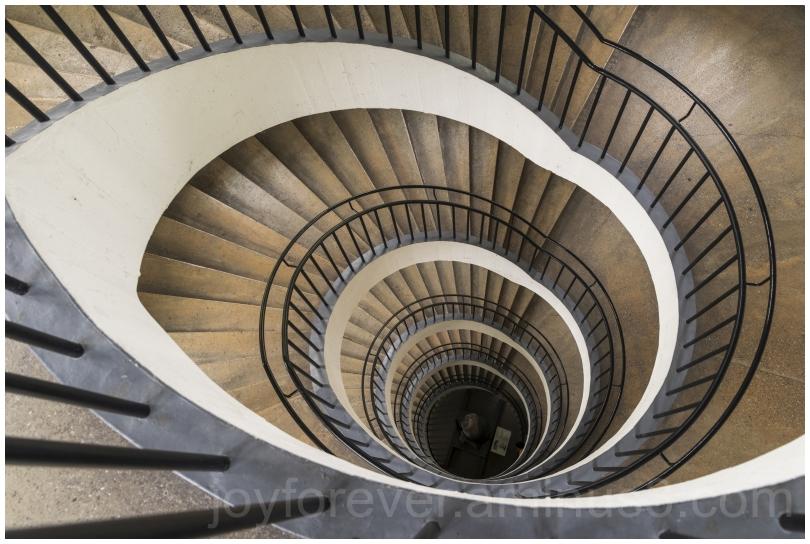 spiral staircase museum stairs Munich Deutsche