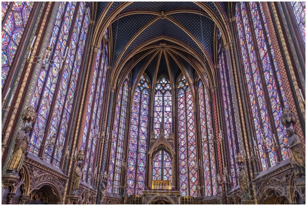 Sainte-Chapelle Paris France chapel stained-glass