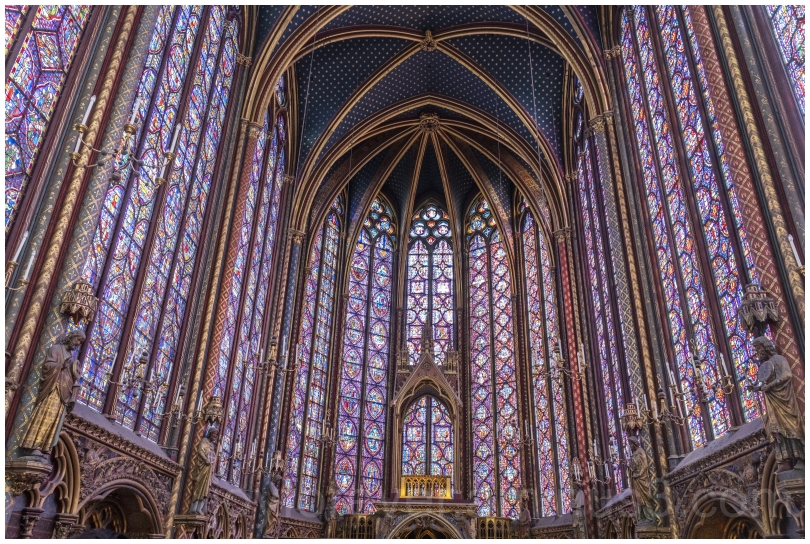 Sainte-Chapelle Paris France chapel stained-glass