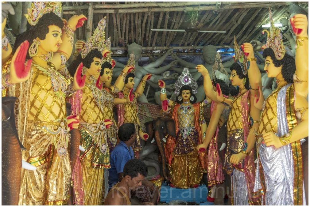 Vishwakarma Hindu God India Kolkata Kumartuli idol