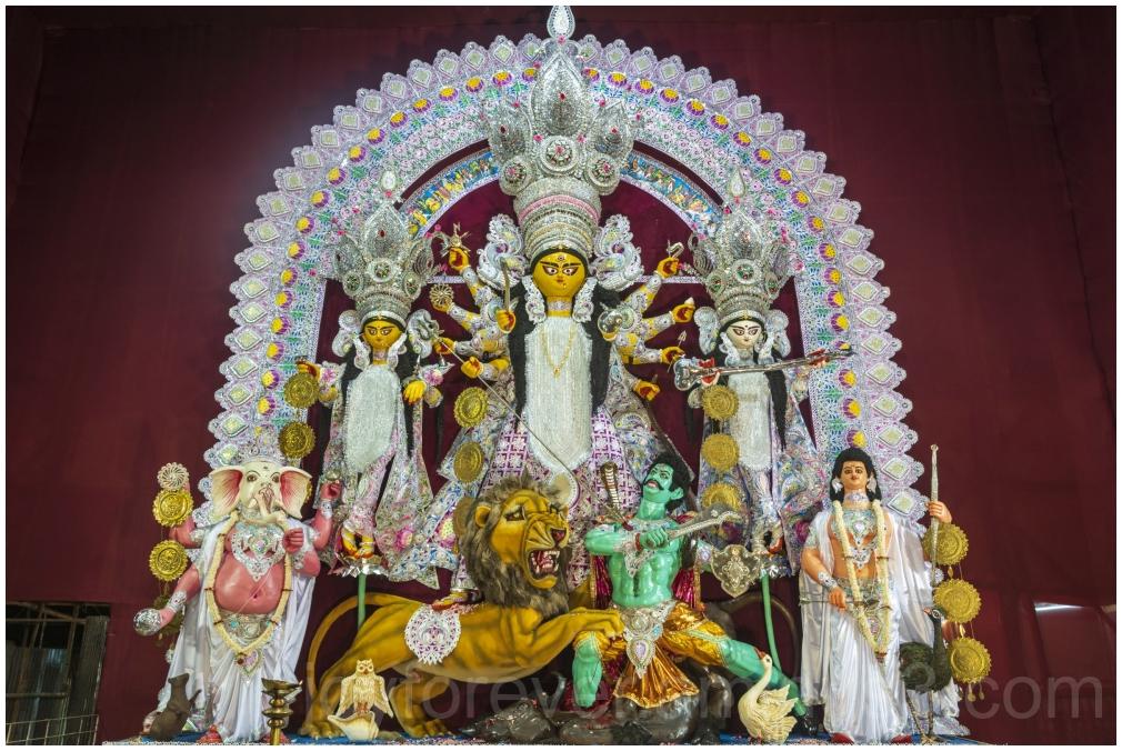 Baghbazar Kolkata Bengal clay idol DurgaPuja art