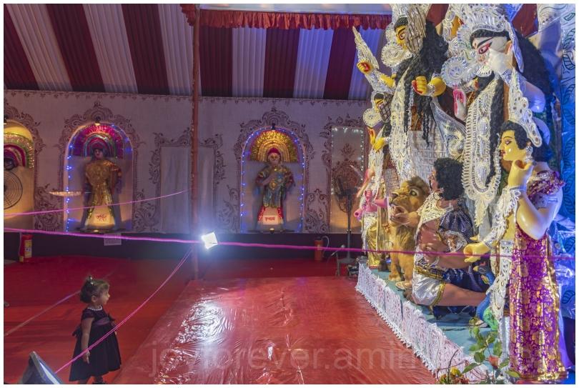 toddler Kolkata Bengal idol DurgaPuja festival art