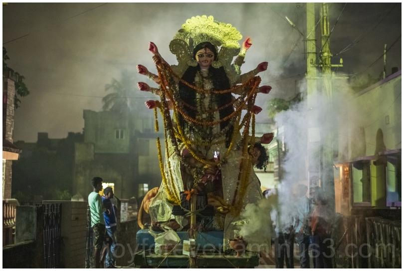 durgapuja bengal india festival visarjan immersion