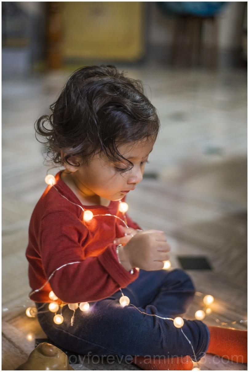 toddler girl festival Diwali indian lights child