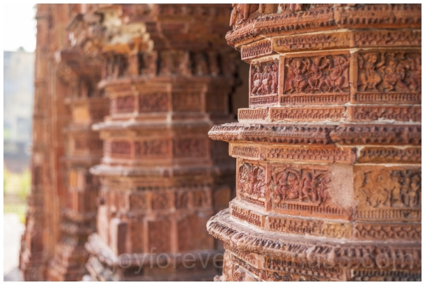 terracotta temple bengal india pillars art