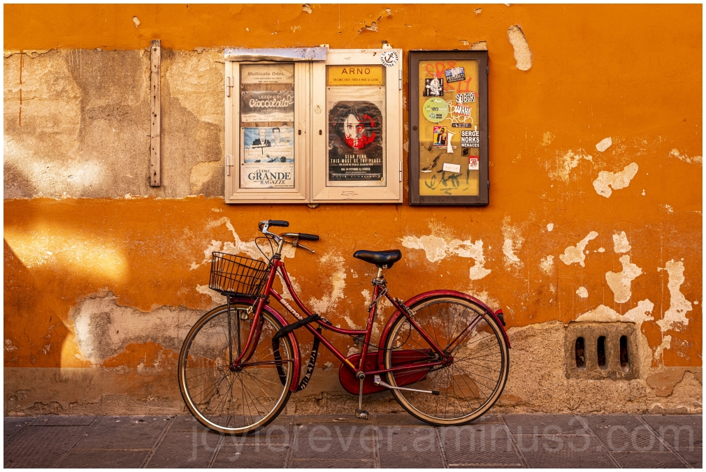 bike bicycle Pisa wall Posters street Italy