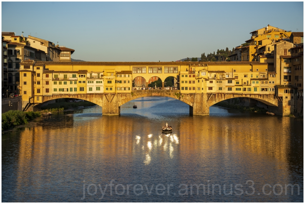 Ponte Vecchio Florence Italy Sunset River bridge
