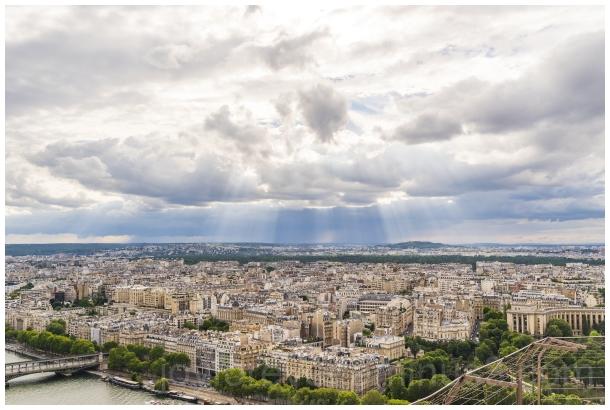 Paris France Eiffel Eiffeltower clouds sun city