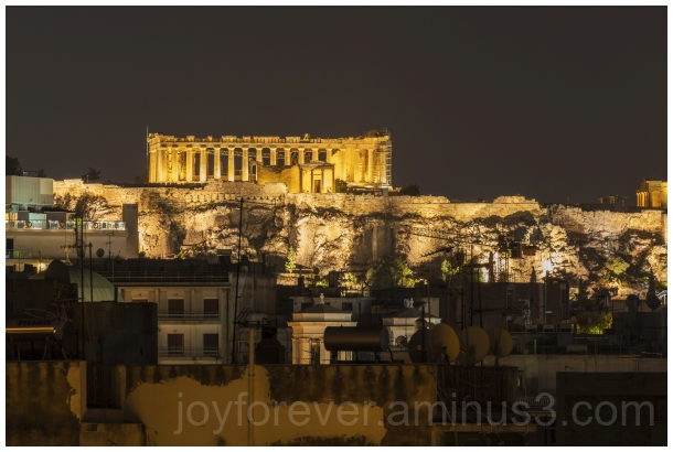 Parthenon Acropolis Athens night Greece ruins