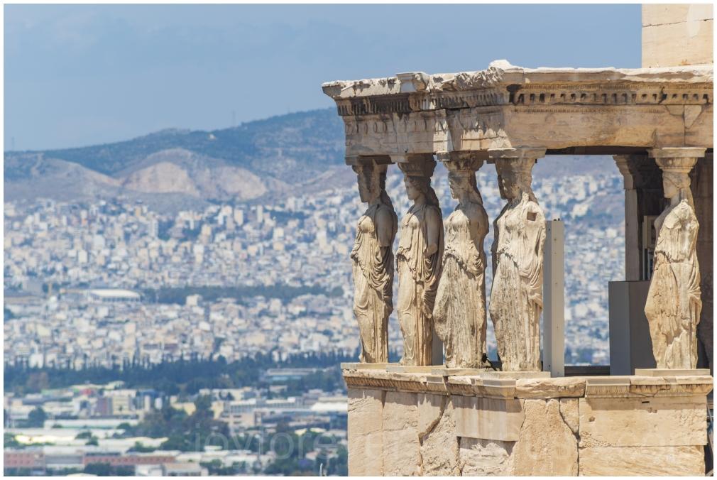 Acropolis Athens Greece ruins Maidens Porch