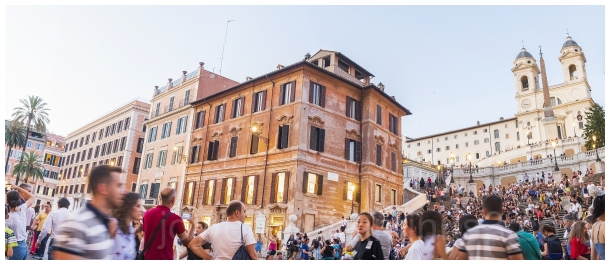 Rome Spanish steps crowd Italy tourists