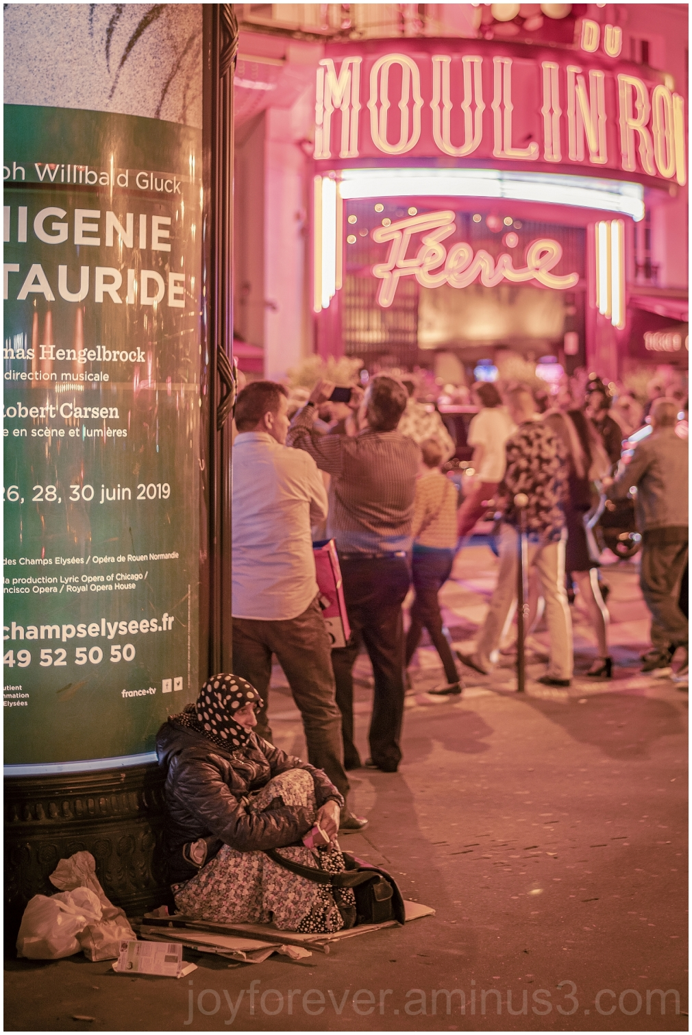 MoulinRouge nightlife homeless Paris France EU