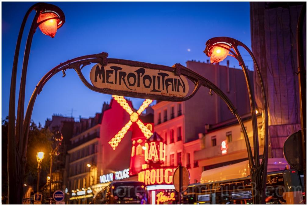 Metro Paris France MoulinRouge Pigalle Nightclub