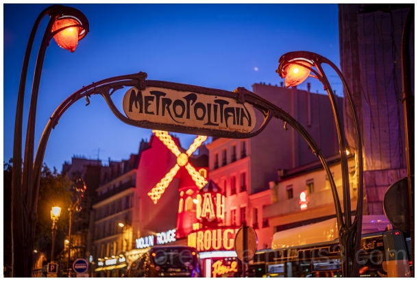Metro Paris France MoulinRouge Pigalle Nightclub