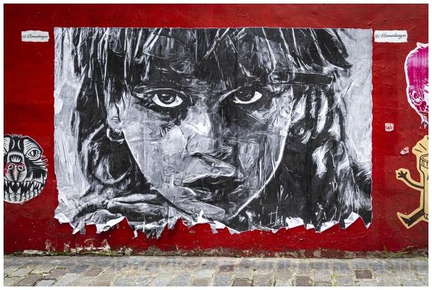 portrait wall graffiti Paris poster France Art