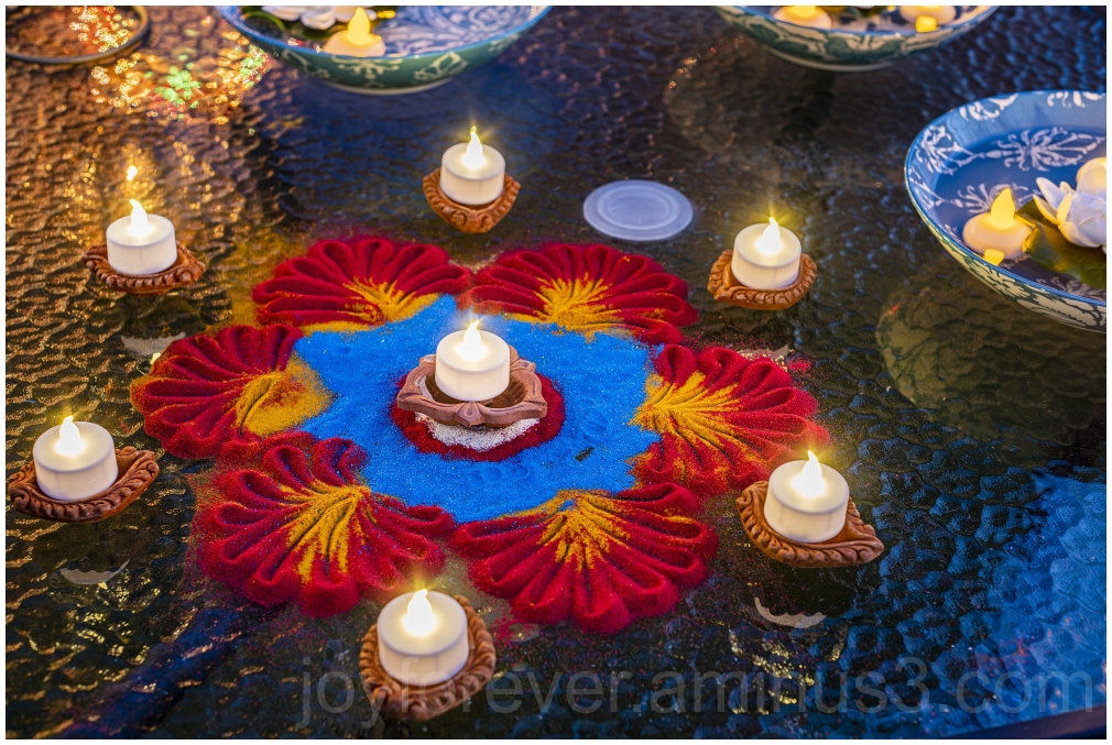 Diwali Hindu Indian festival Rangoli Lamps