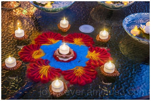 Diwali Hindu Indian festival Rangoli Lamps