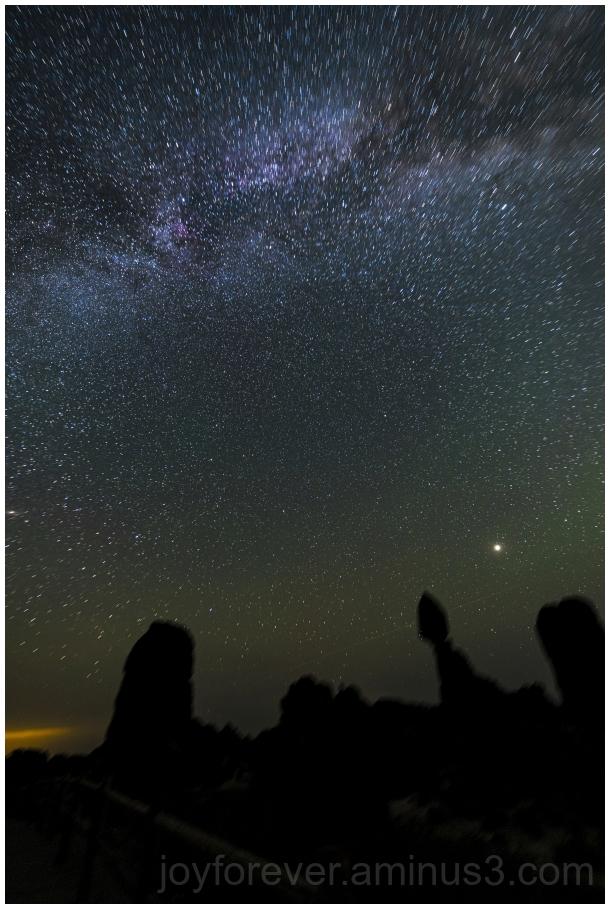 MilkyWay NightSky Astrophotography BalancedRock UT