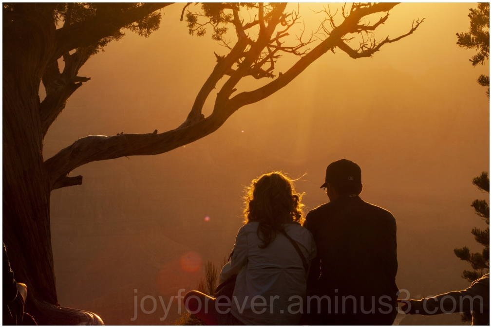 grandcanyon sunset couple arizona silhouette