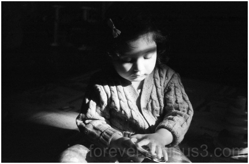 toddler child girl film 35mm B&W BlackandWhite