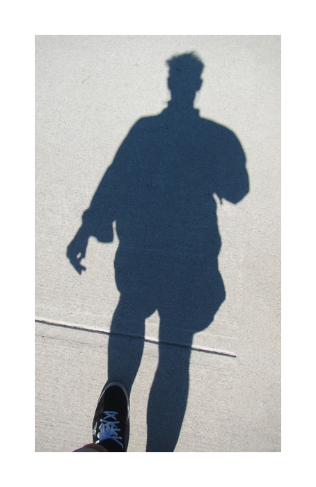 selfie portrait shadow man