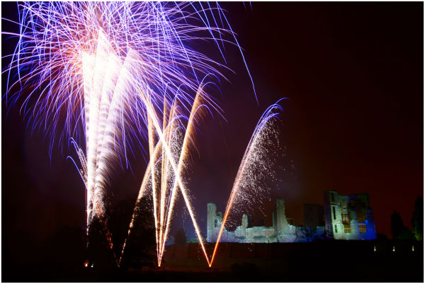 Fireworks at Kenilworth Bonfire Night Gala 2008