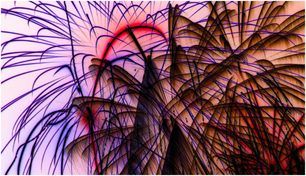 LAB colorspace inversion of fireworks