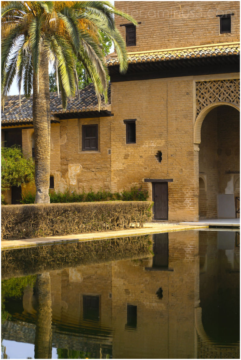 Reflecting pool at Alhambra in Spain