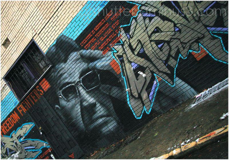 Graffiti of Noam Chomsky in Little Five Points