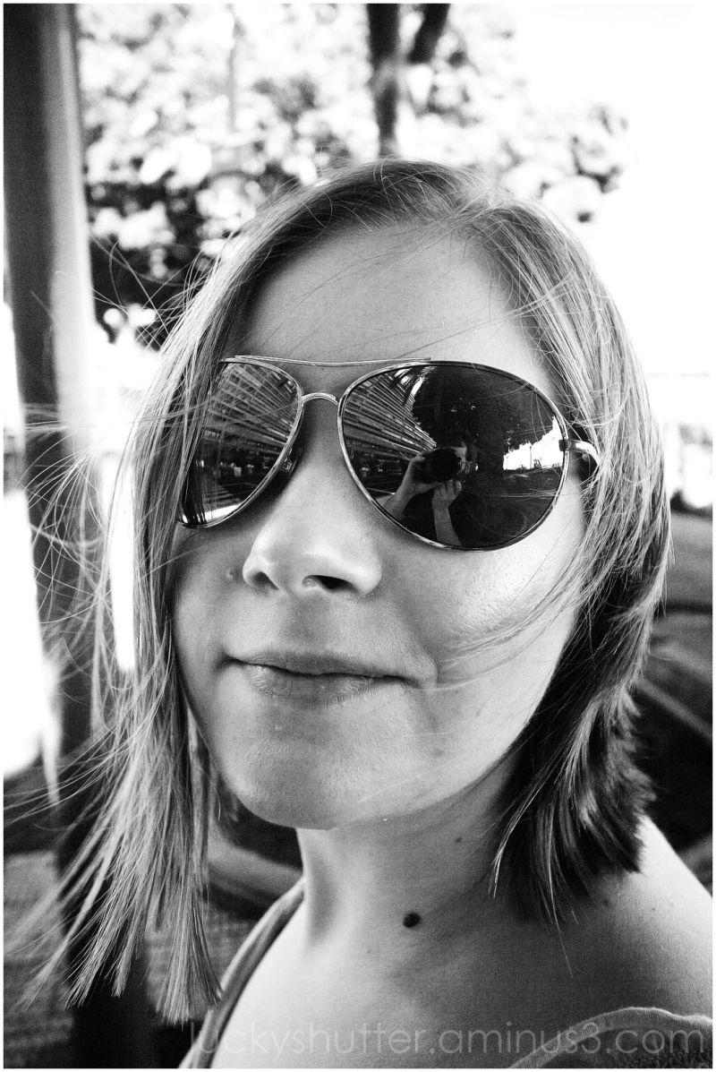 Aviator sunglasses outdoor portrait