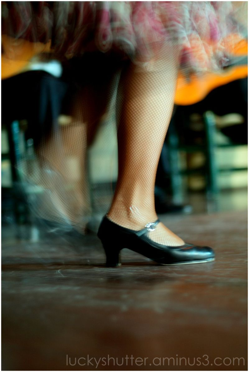 flamenco dancer's leg