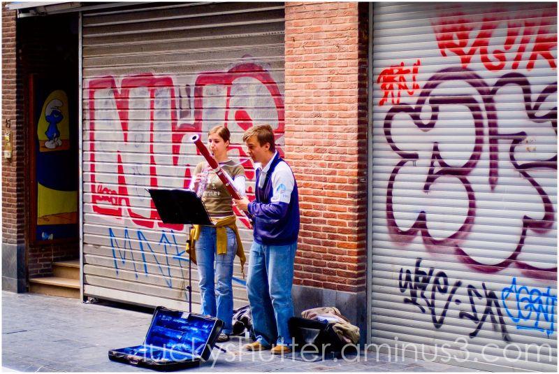 Street musicians in Brussels