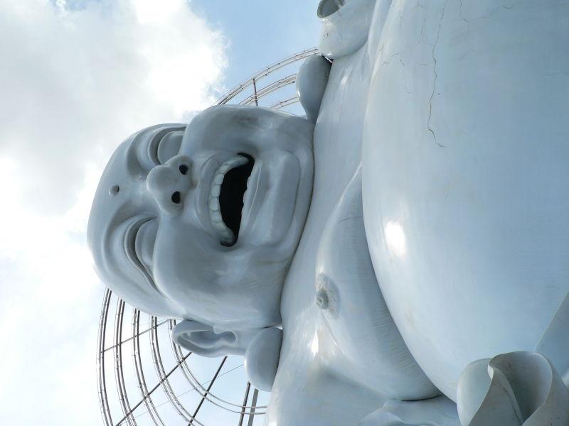 Giant blue Buddha in Dalat