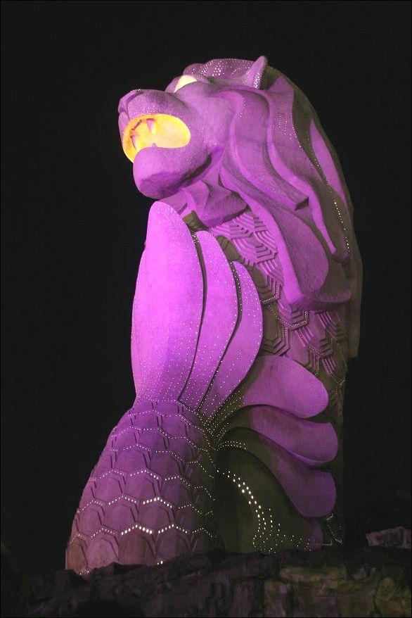 merlion in purple