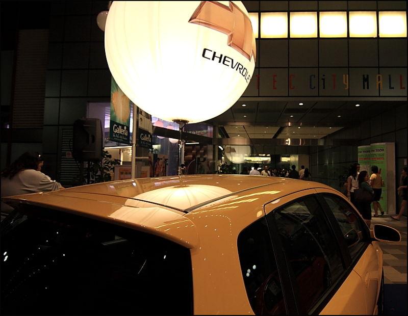 car and ballon