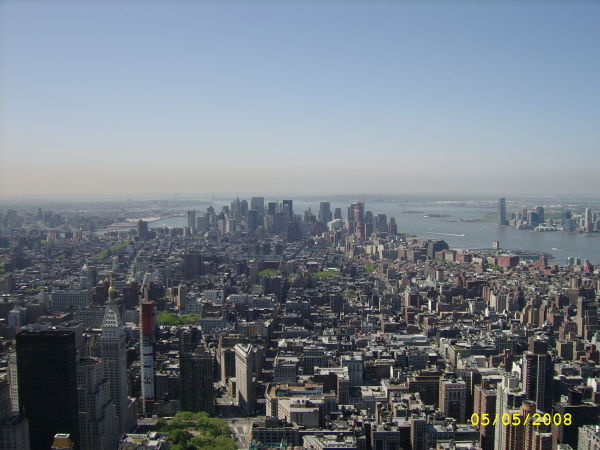 City view from Empire State