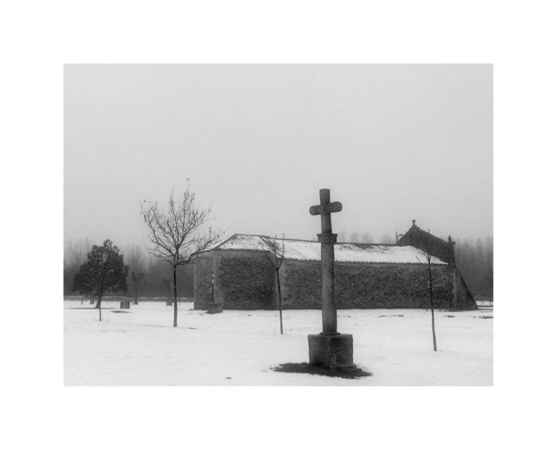 Nieve en Riaza B&W