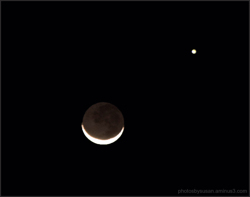 Venus and the Moon.......One night only.......