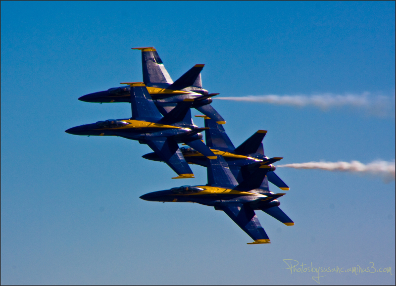 Blue Birds over Homestead Air Reserve Base