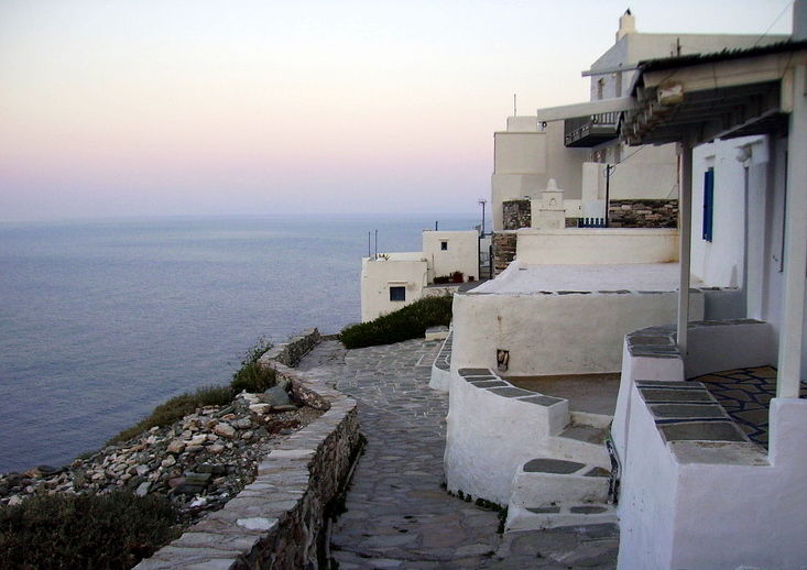 A small village on the island of Sifnos, Greece