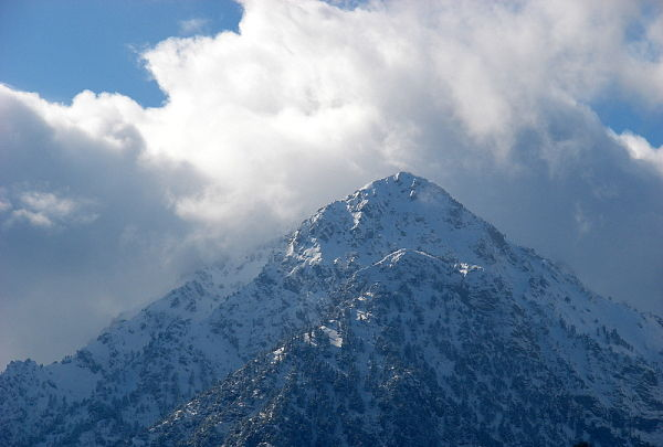 a snowy mountain top in the Peloponnese