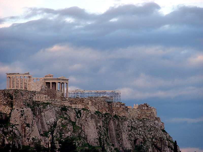 the northern part of the parthenon under construct
