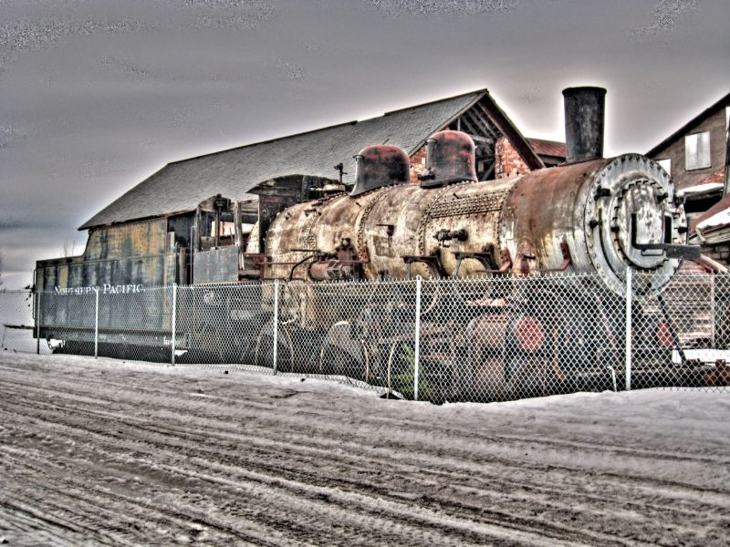 HDR image of a steam engine