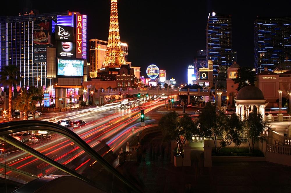 vegas, skyline,traffic,night