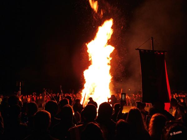 Accensione fuoco Druidico a Celtica 2018