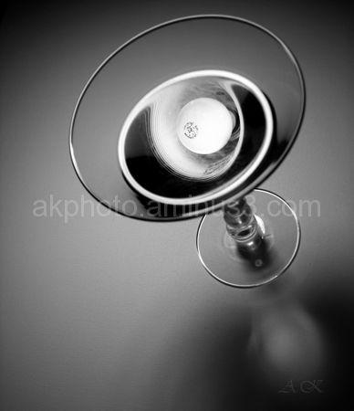 Martini, glass, lightbulb
