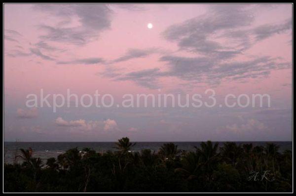 sunset, beach, mexico