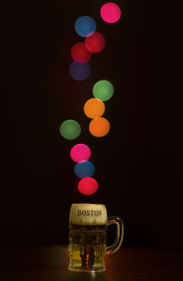 boston beer bokeh